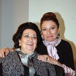 Montserrat Caballé y Montserrat Martí en el 50 aniversario del debut de Caballé