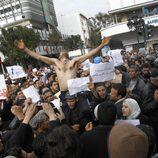 Manifestantes en favor de la Revolución de Túnez en 2011