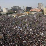 Manifestantes congregados en la plaza Tahrir de El Cairo en 2011