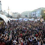 Manifestantes del 15-M en Sol en 2011