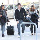 Leo Messi con su novia Antonella Roccuzzo y su madre Cecilia