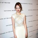 Emma Stone en los premios de la Sociedad Nacional de Críticos de Cine