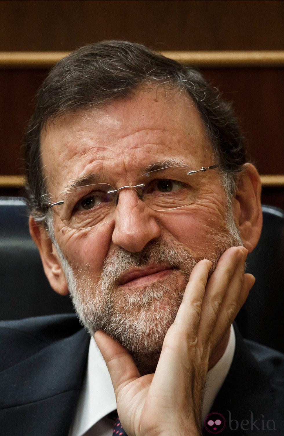 Mariano Rajoy con cara de preocupación