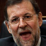 Mariano Rajoy con la boca abierta