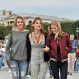 Miley Cyrus y Ashley Greene en el rodaje de 'LOL'
