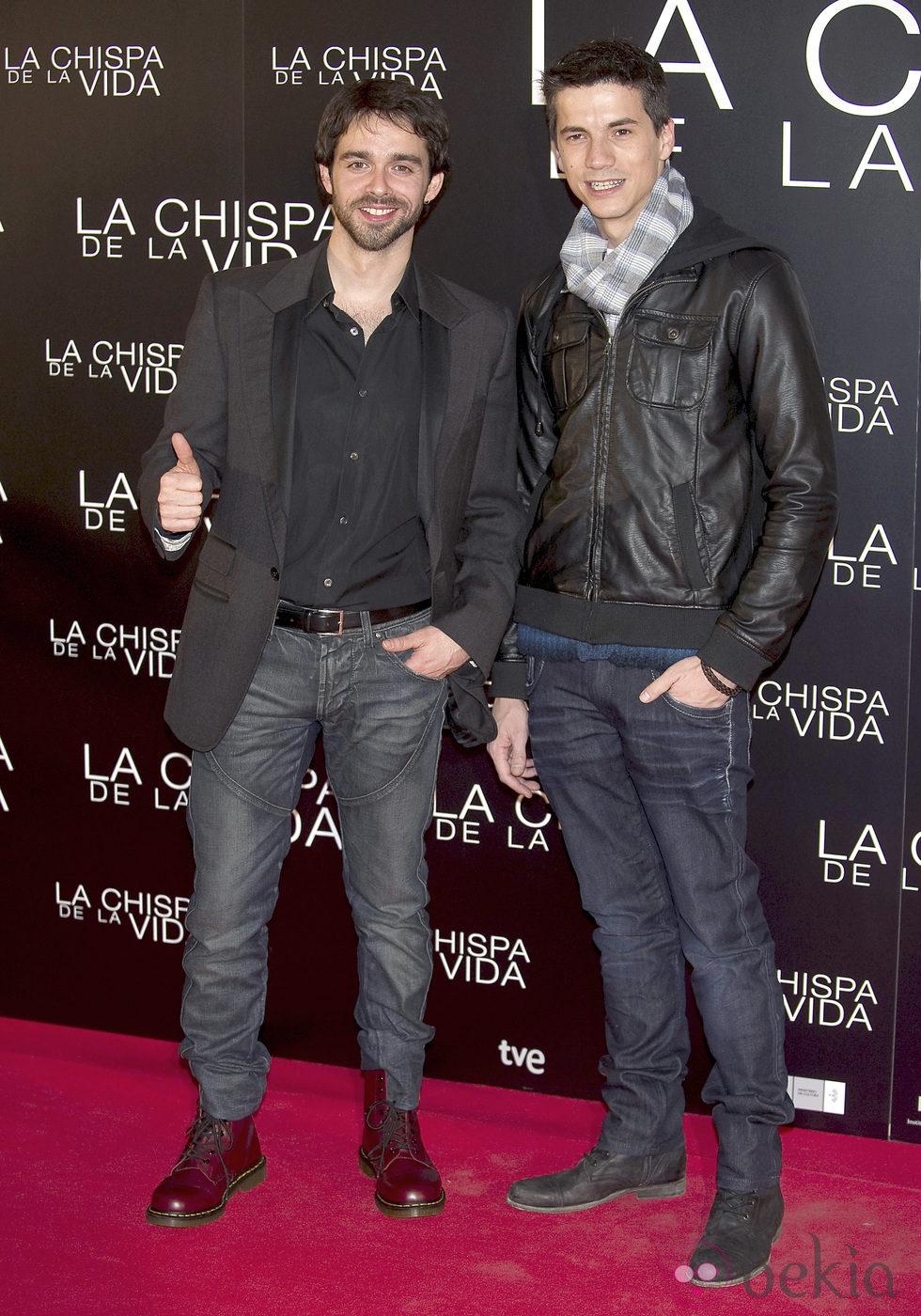 Alberto Amarilla y Marco Martínez en el estreno de \'La chispa de la ...
