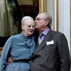 La Reina Margarita de Dinamarca y el Príncipe Enrique