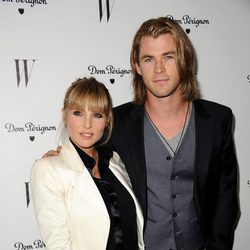 Elsa Pataky y Chris Hemsworth en la fiesta W Magazine
