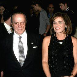 Manuel Fraga y Ana Botella en la Pasarela Cibeles de 1999