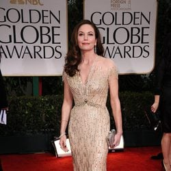 Diane Lane en la alfombra roja de los Globos de Oro 2012