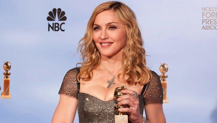 Madonna con su Globo de Oro 2012