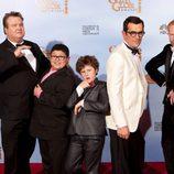 Reparto masculino de la serie 'Modern Family' en los Globos de Oro 2012