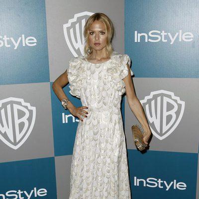 Rachel Zoe en la fiesta organizada por Warner Bros tras los Globos de Oro 2012