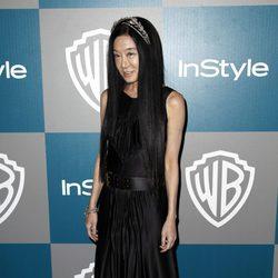 Vera Wang en la fiesta organizada por Warner Bros tras los Globos de Oro 2012