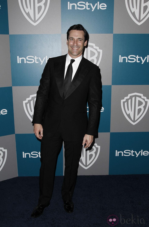 Jon Hamm en la fiesta organizada por Warner Bros tra los Globos de Oro 2012