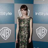 Ellie Kemper en la fiesta organizada por Warner Bros tras los Globos de Oro 2012