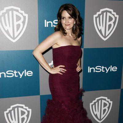 Tina Fey en la fiesta organizada por Warner Bros tras los Globos de Oro 2012