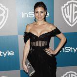 Jamie-Lynn Sigler en la fiesta organizada por Warner Bros tras los Globos de Oro 2012