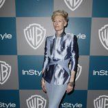 Tilda Swinton en la fiesta organizada por Warner Bros tras los Globos de Oro 2012