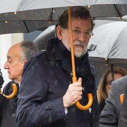 Mariano Rajoy en el funeral de su hermana Mercedes en Pontevedra
