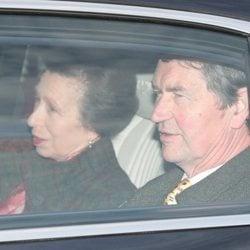 La Princesa Ana y Sir Timothy Laurence en el almuerzo prenavideño 2019 en Buckingham Palace