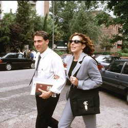 Antonio David Flores y Rocío Carrasco por las calles de Madrid