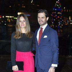 Carlos Felipe de Suecia y Sofia Hellqvist en el concierto benéfico ?Navidad en Vasastan? 2019