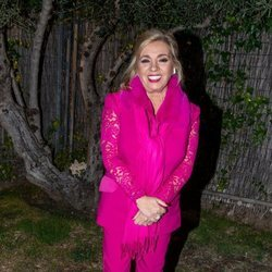 Carmen Borrego llegando a la cena de Nochebuena en casa de Terelu Campos