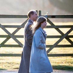 El Príncipe Eduardo y Luisa Mountbatten-Windsor acudiendo a la Misa de Navidad 2019
