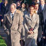 El Príncipe Eduardo y la Condesa de Wessex en la Misa de Navidad 2019