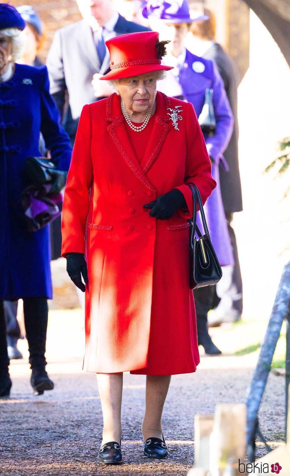 La Reina Isabel en la Misa de Navidad 2019