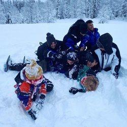 Los hermanos Casas en la nieve