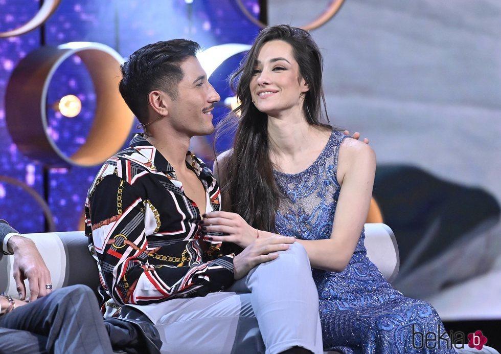 Adara y Gianmarco al reencontrarse en el debate final de 'GH VIP 7'