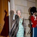 La Reina Margarita de Dinamarca en la recepción de Año Nuevo 2020