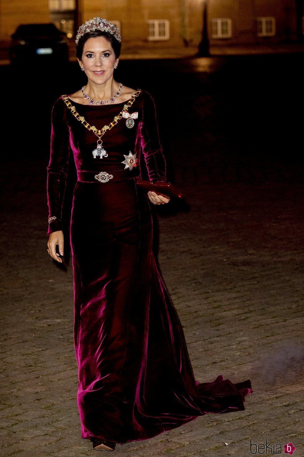 La Princesa Mary de Dinamarca en la recepción de Año Nuevo 2020