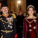 Los Príncipes Federico y Mary de Dinamarca en la recepción de Año Nuevo 2020