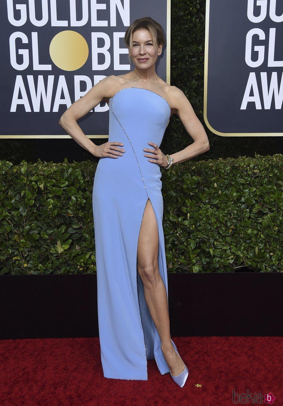Renée Zellweger en la alfombra roja de los Globos de Oro 2020