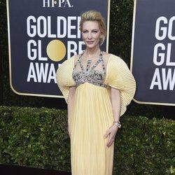 Cate Blanchett en la alfombra roja de los Globos de Oro 2020