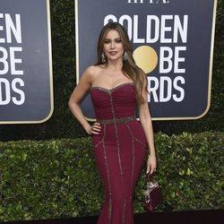 Sofía Vergara en la alfombra roja de los Globos de Oro 2020