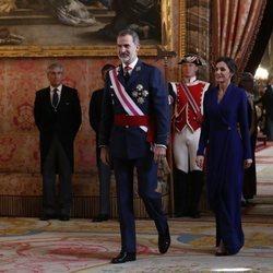 Los Reyes Felipe y Letizia en la Pascua Militar 2020