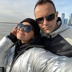 Laura Escanes y Risto Mejide en Nueva York