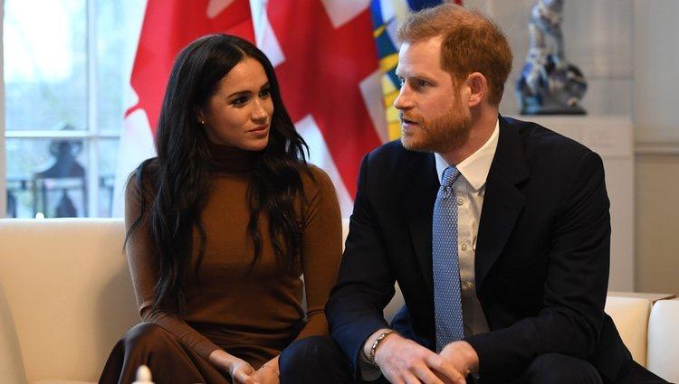 El Príncipe Harry y Meghan Markle en la Casa de Canadá en Londres