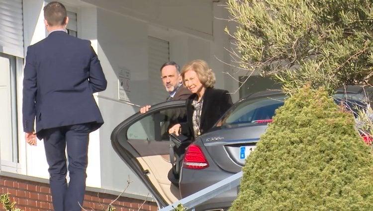 La Reina Sofía visita a la Infanta Pilar en el hospital Ruber de Madrid