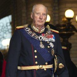 Harald de Noruega en la Apertura del Parlamento Noruego