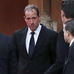 Bruno Gómez-Acebo en la capilla ardiente de la Infanta Pilar