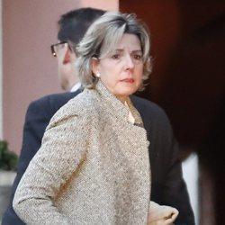 Simoneta Gómez-Acebo en la capilla ardiente de la Infanta Pilar