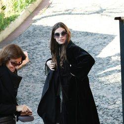 Cósima Ramírez en el funeral de la Infanta Pilar