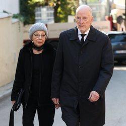 Simeón y Margarita de Bulgaria en el funeral de la Infanta Pilar