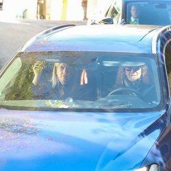 Las Infantas Elena y Cristina en el funeral de la Infanta Pilar