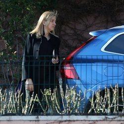 La Infanta Cristina tras el funeral de la Infanta Pilar